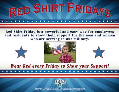 Red Shirt Friday is a powerful and easy way for employees and residents to show their support